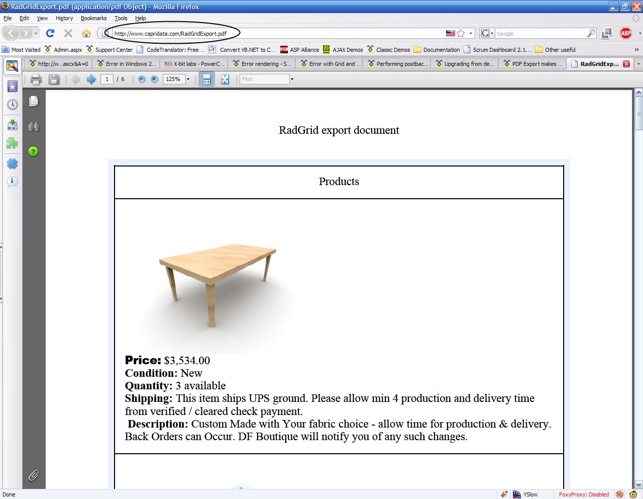 PDF Export makes blank file  in UI for ASP NET AJAX Grid