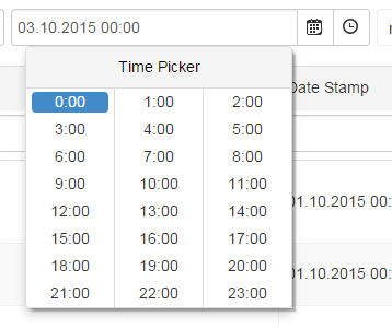 DateTime column: missing filter for time only for date in UI