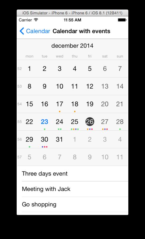 Scroll List View For Calendar Day Events Calendar Ui