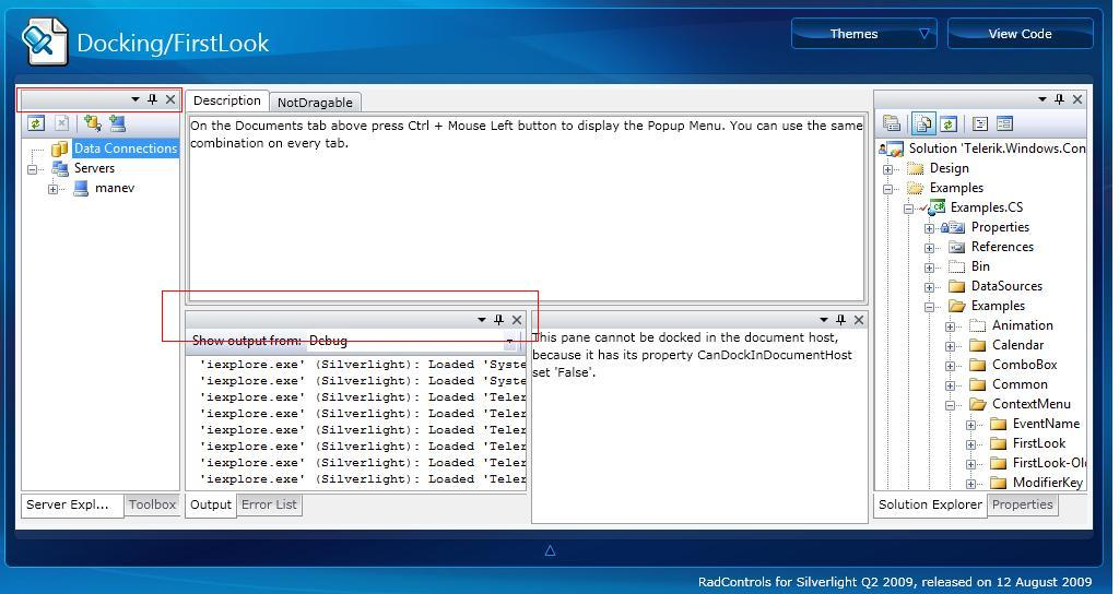 RadPane Title not working on Q2 2009 in UI for Silverlight