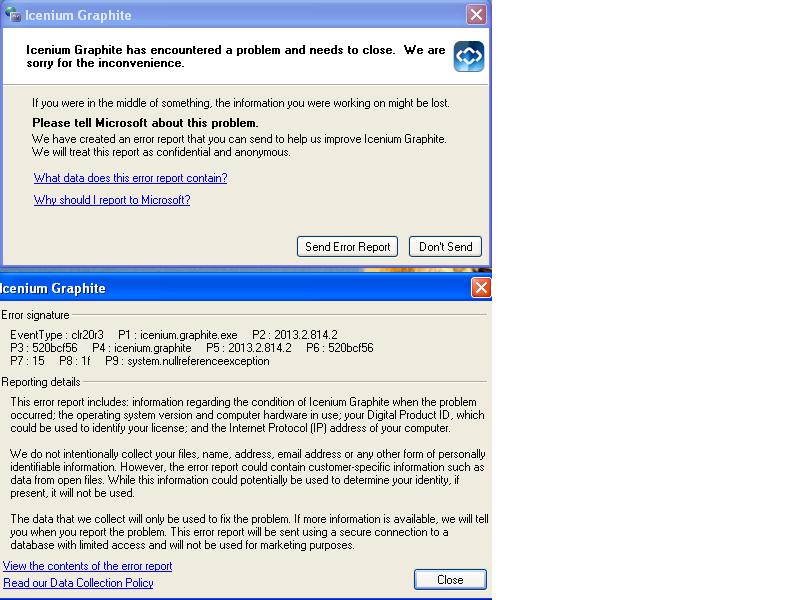 Graphite crashing when loading in Telerik AppBuilder discussion
