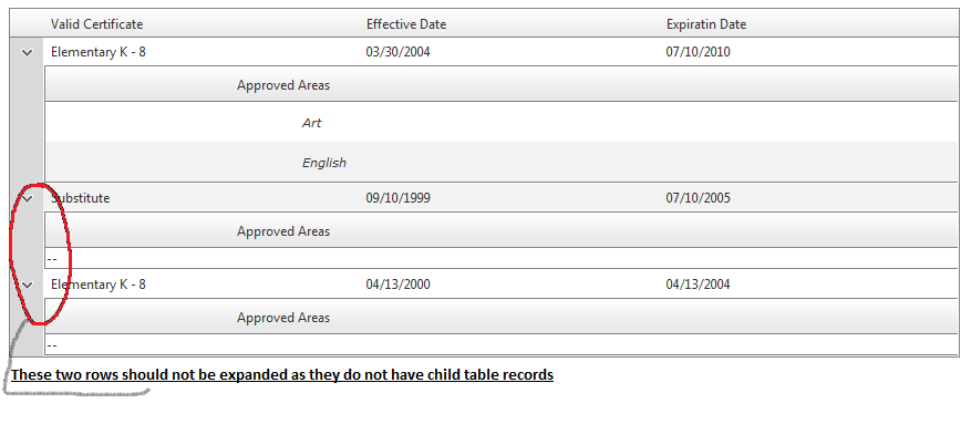 Expand row if child table has rows in UI for ASP NET AJAX Grid