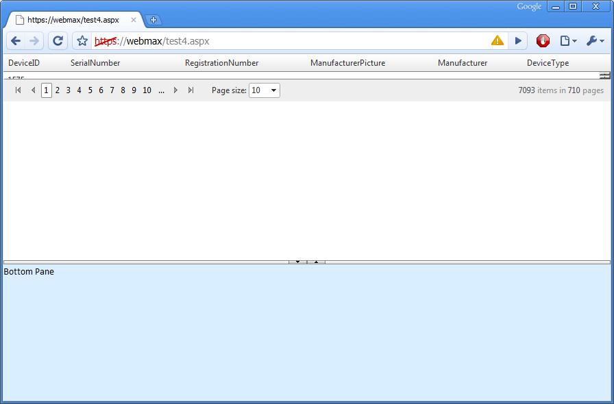 Radajaxmanager not updating radgrid