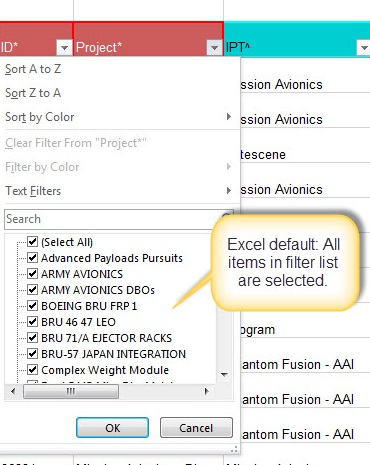 Grid with Excel-like column filters in UI for ASP NET MVC