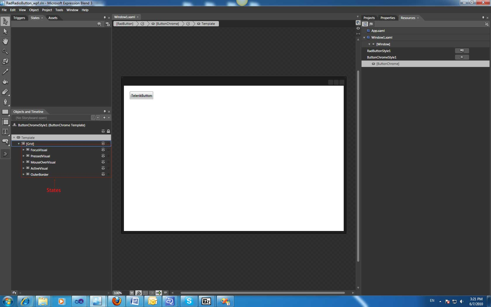 Changing mouse-over color in UI for WPF Buttons - Telerik Forums