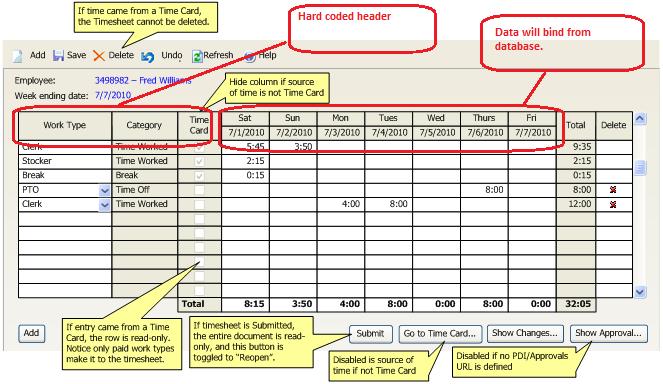 How to bind radgridview header Grid UI for ASPNET AJAX Forum – Timesheet Design