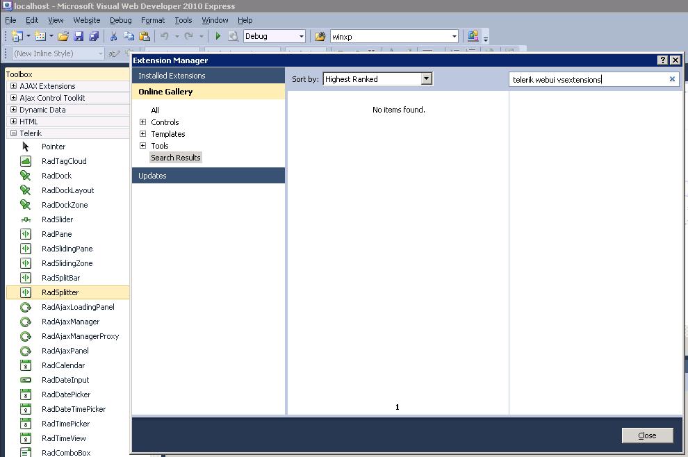 Adding ui for wpf to visual studio toolbox telerik ui for wpf.