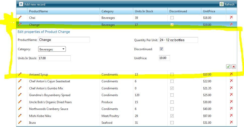 Inline edit form table formatting in UI for ASP NET AJAX