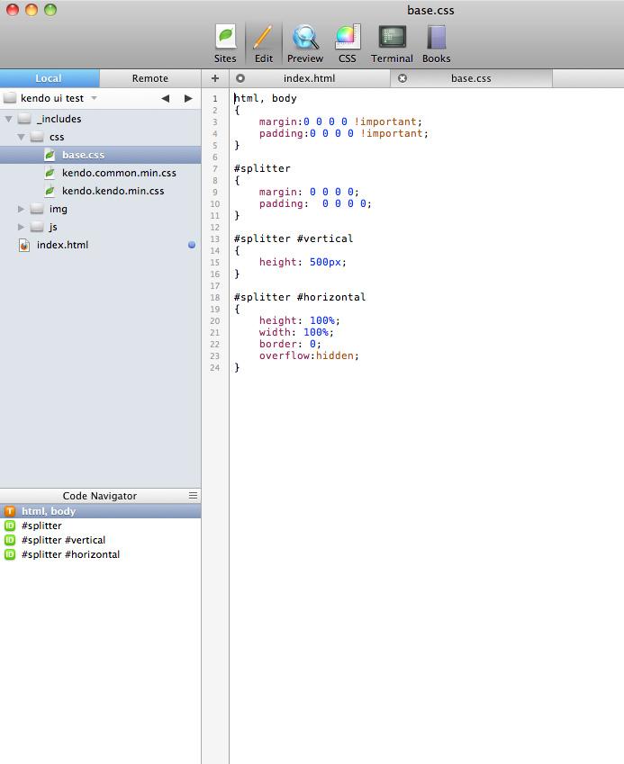 Resize browser window resize splitter layout splitter for Window resize