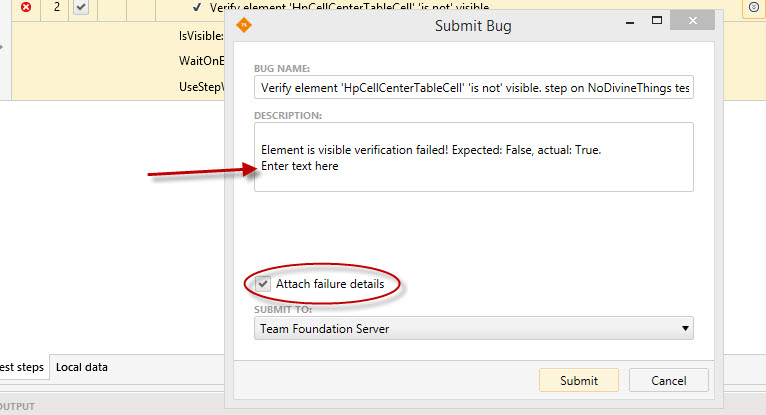TFS Bug reporting in Test Studio General Discussions