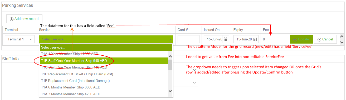 Update a read-only column with value while editing in UI for ASP NET
