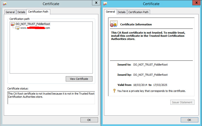 Performance Testing Iexplorer Cannot Verify Certificate Up To A