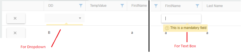 Kendo Grid UI Required validation not working in Kendo UI