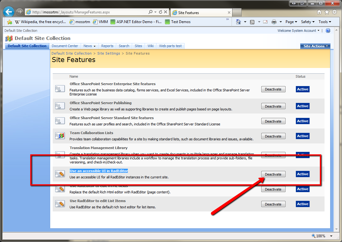 Reusable content problem sharepoint 2007 in SharePoint 2007