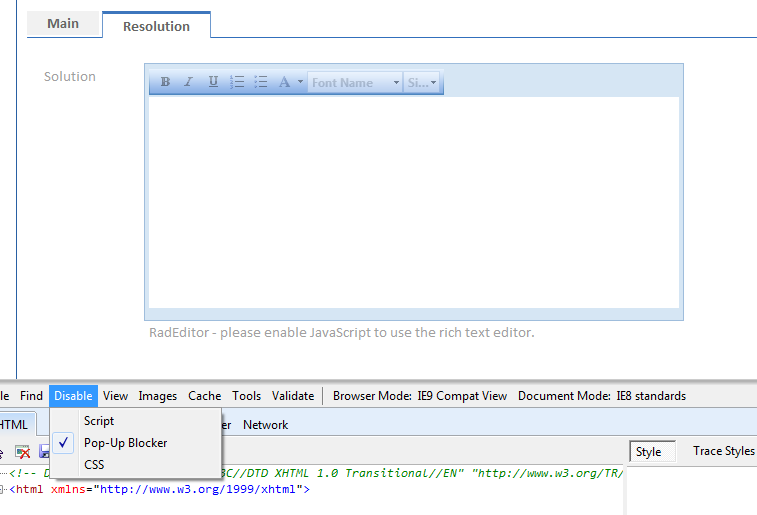 Radeditor please enable javascript to use the rich text editor 1g ccuart Choice Image