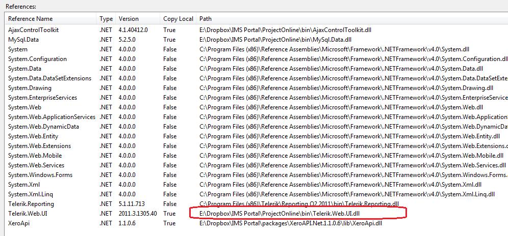 telerik web ui skins dll missing in UI for ASP NET AJAX