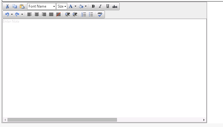Horizontal scrollbar appears by default for RadEditor where