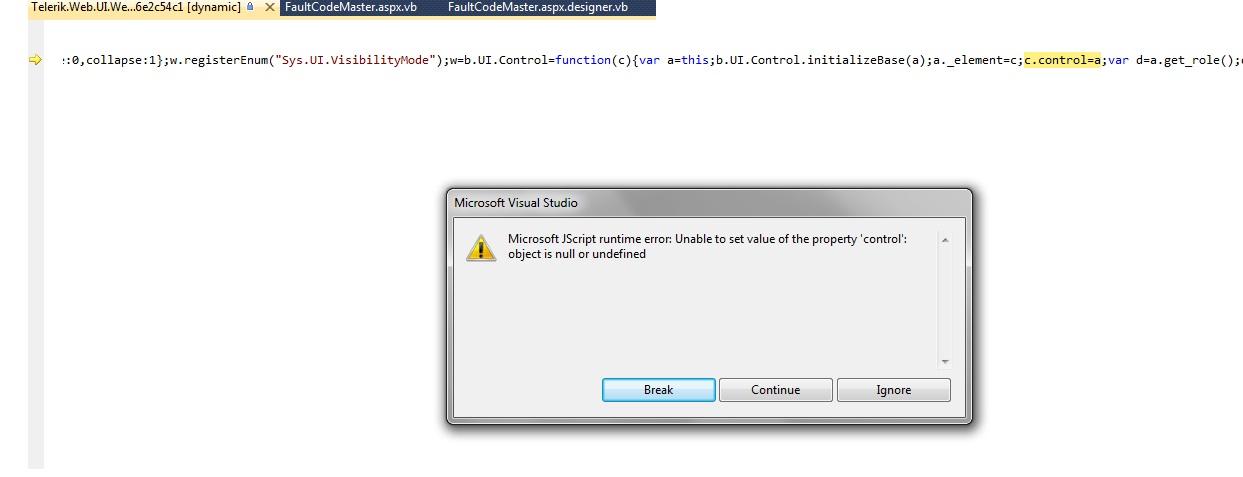 Microsoft JScript runtime error: Unable to set value of