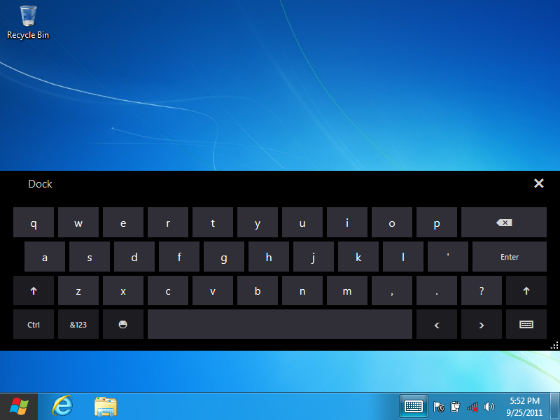 Touch Keyboard in UI for WinForms New Product Suggestions