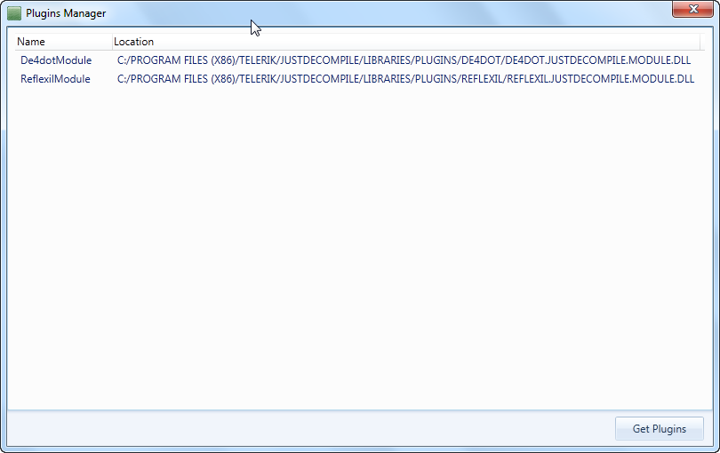 JustDecompile latest version (2012 2 905 0) and Reflexil in