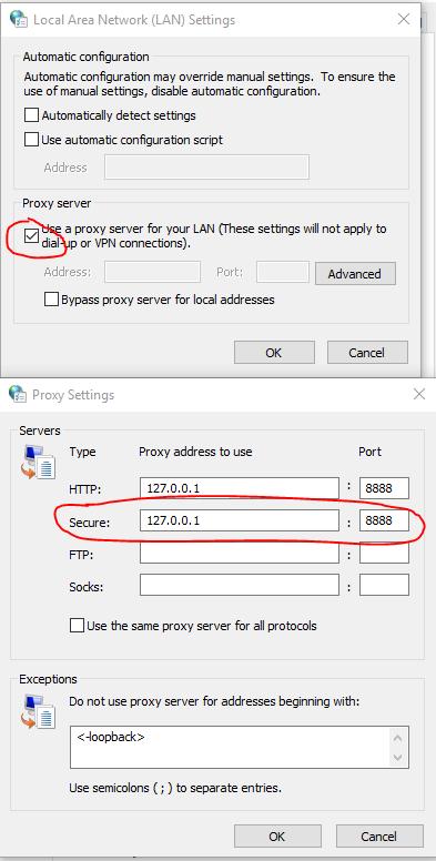 Fiddler4 doesn't capture HTTPs traffic on Windows 10 in Fiddler