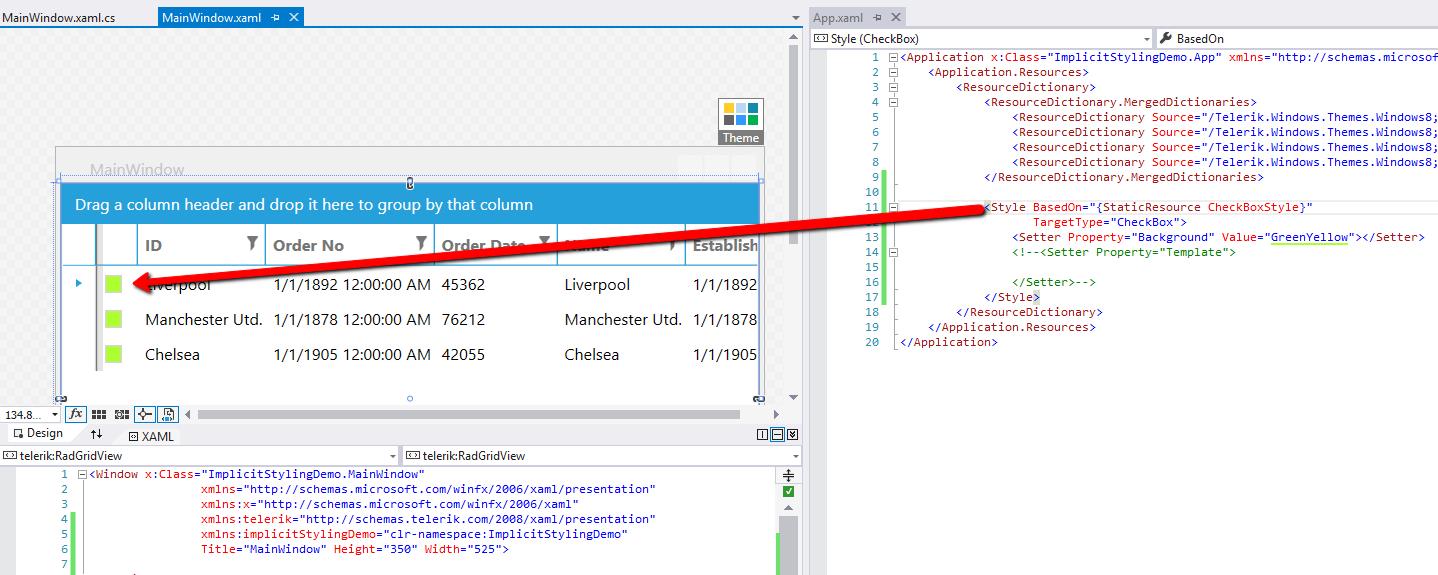 Telerik WPF Windows 8 Theme modification    in UI for WPF General