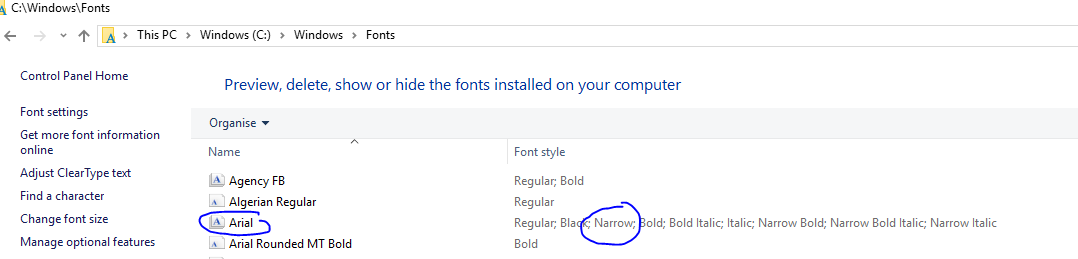 Some Fonts are not able to bold/italic in UI for WPF