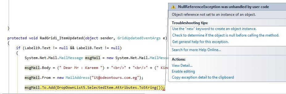Object Reference Not Set To An Instance Of An Object For Dropdownlist In Ui For Asp Net Ajax Grid Telerik Forums