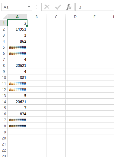 Exporting to CSV using example dynamic table generates single column