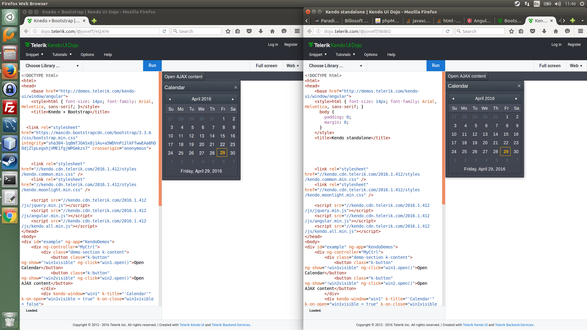 Bootstrap css messes with k-window-titlebar in Kendo UI for jQuery