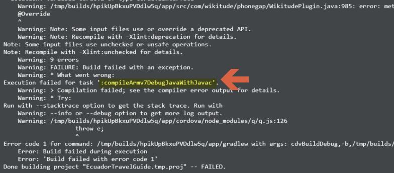 My Appbuilder is not building any Android App in Telerik