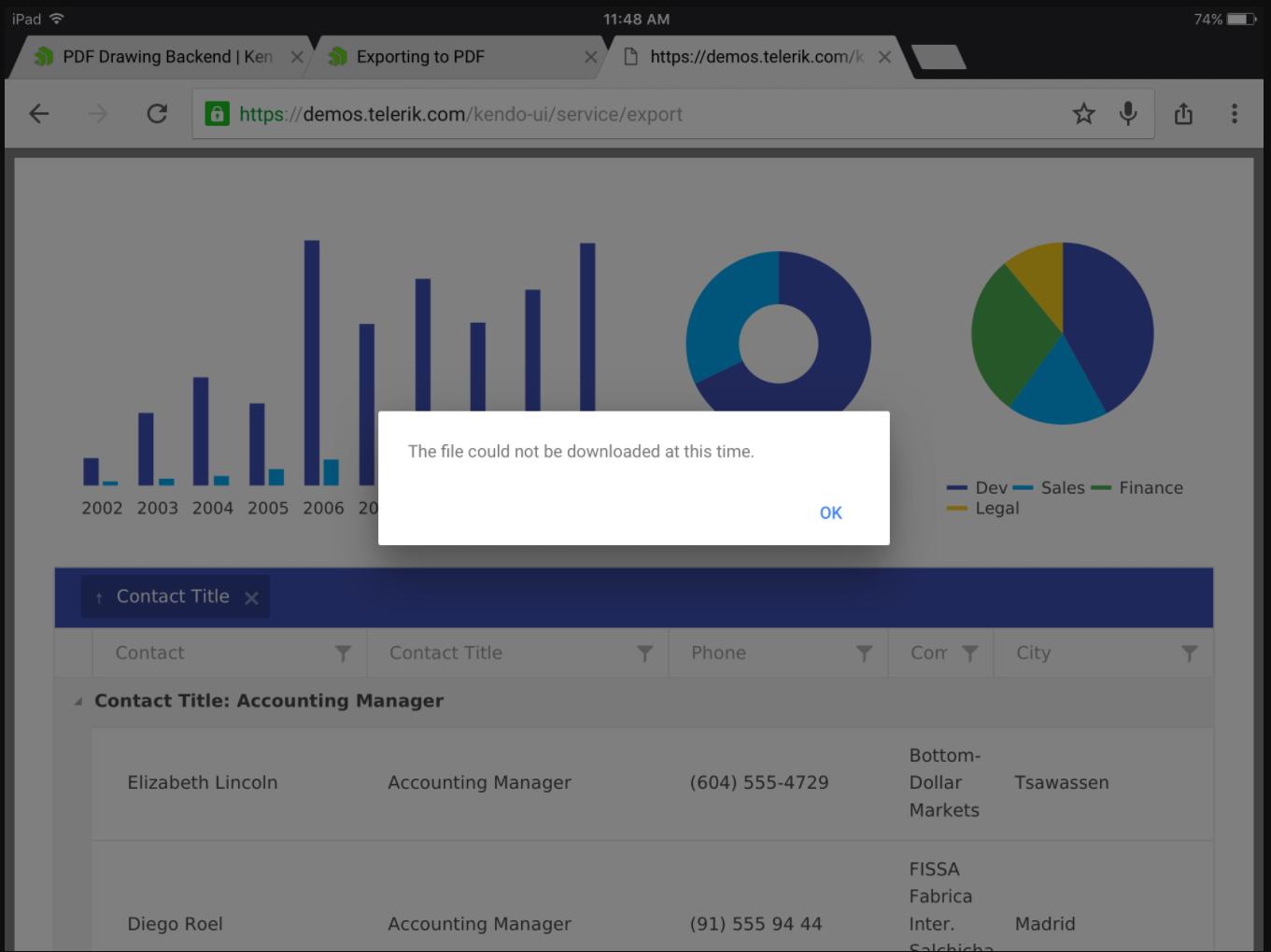 kendo saveAs pdf on Chrome mobile and iOS