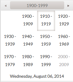 Default Selection to Year in Kendo UI for jQuery Date/Time Pickers