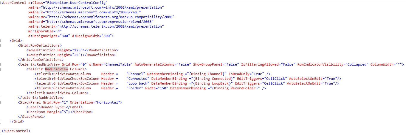 RadGridView: Adding button in a column in UI for WPF GridView