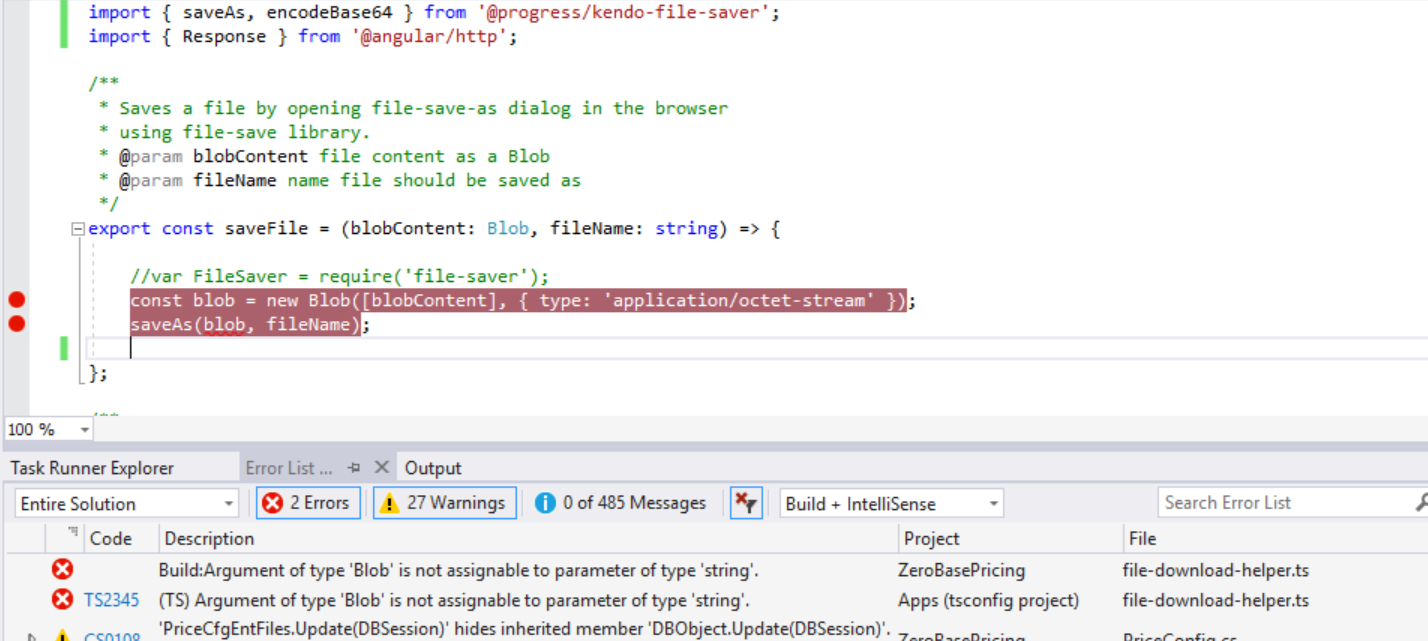 KendoUI file-saver saving a zip file in Kendo UI for Angular General
