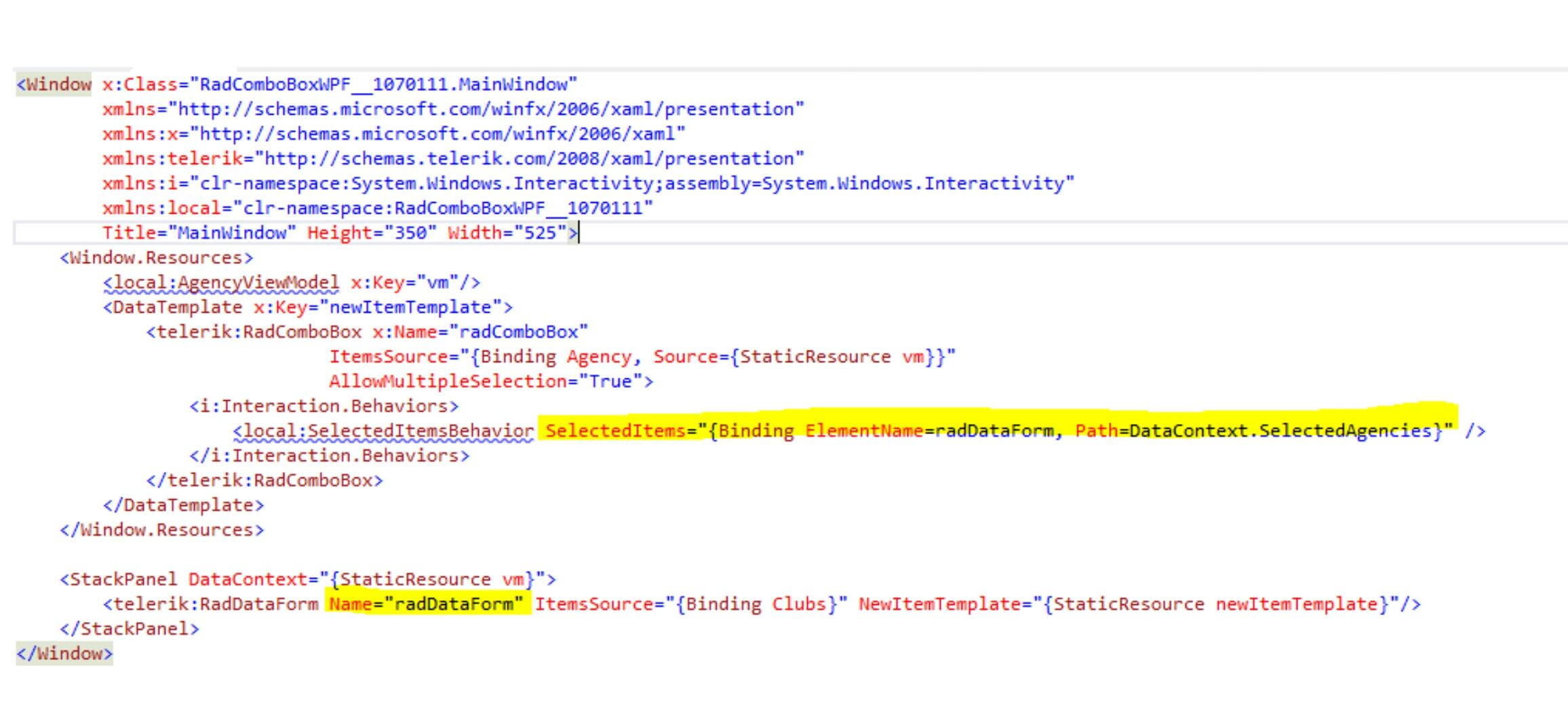SelectedItems in UI for WPF ComboBox - Telerik Forums