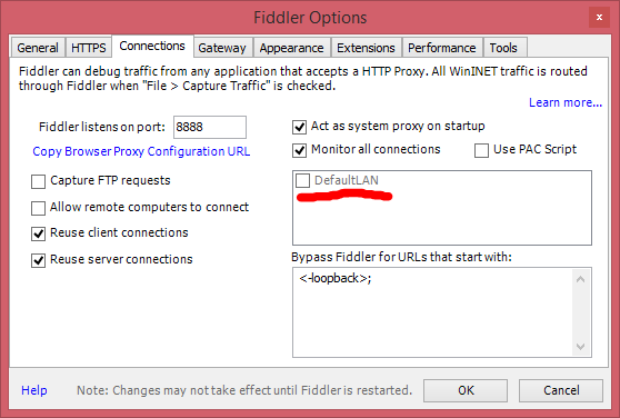 Fiddler causes my Internet access to stop working in Fiddler General