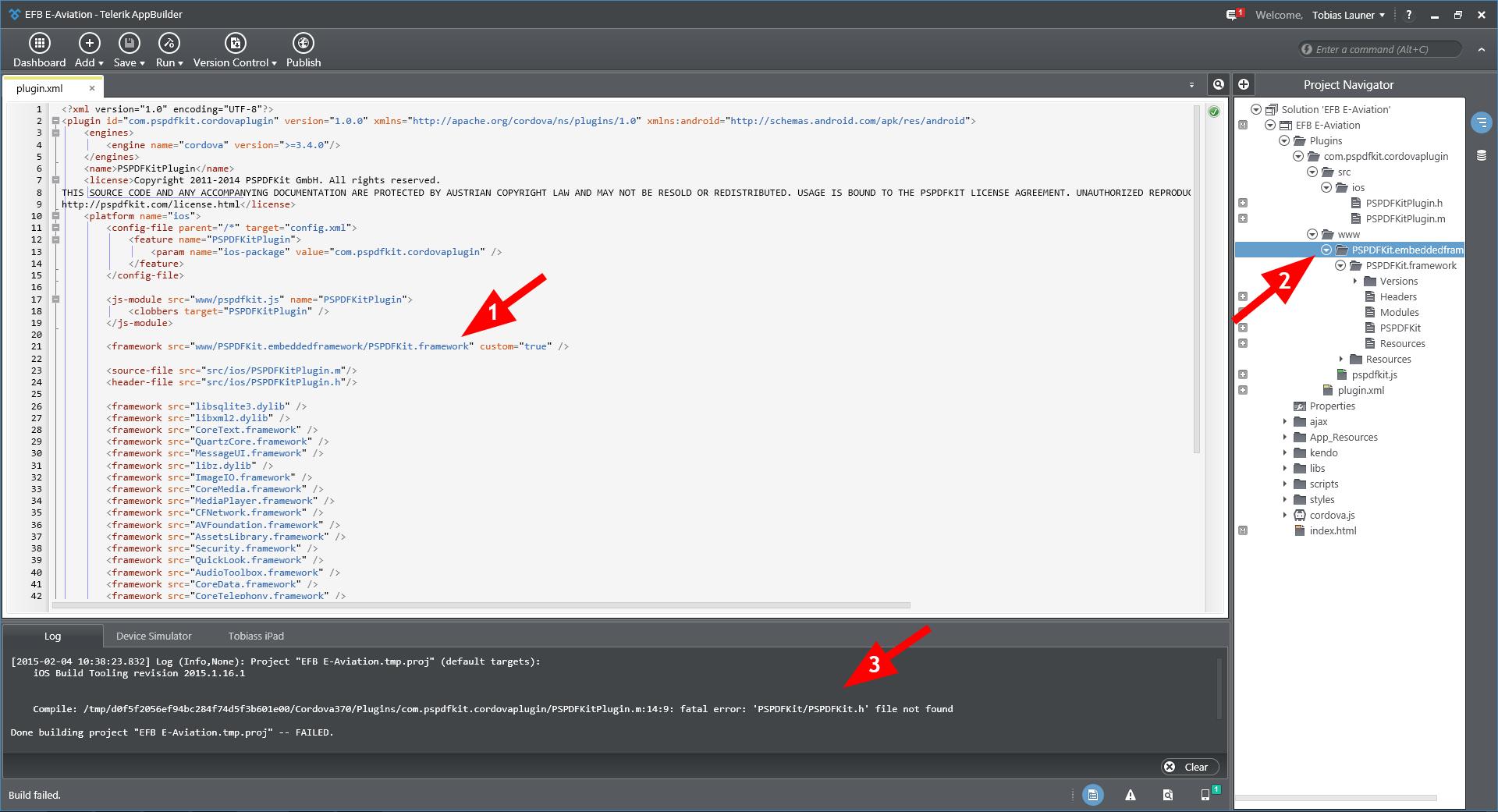 how to run a framework for an external plugin pspdfkit show