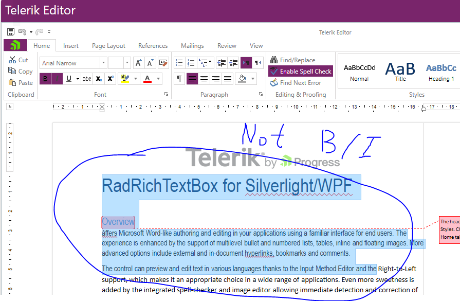 Some Fonts are not able to bold/italic in UI for WPF RichTextBox