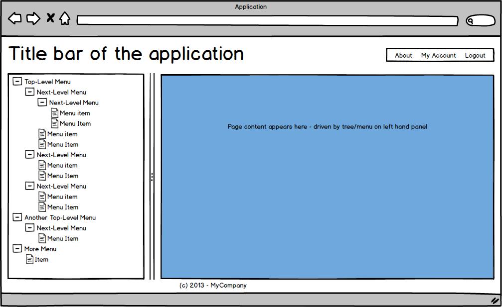 Main menu / _Layout-type page in UI for ASP NET MVC Splitter