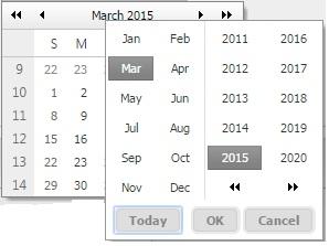 Apply CSS on Button Inside Calendar in RadDateTimePicker in UI for
