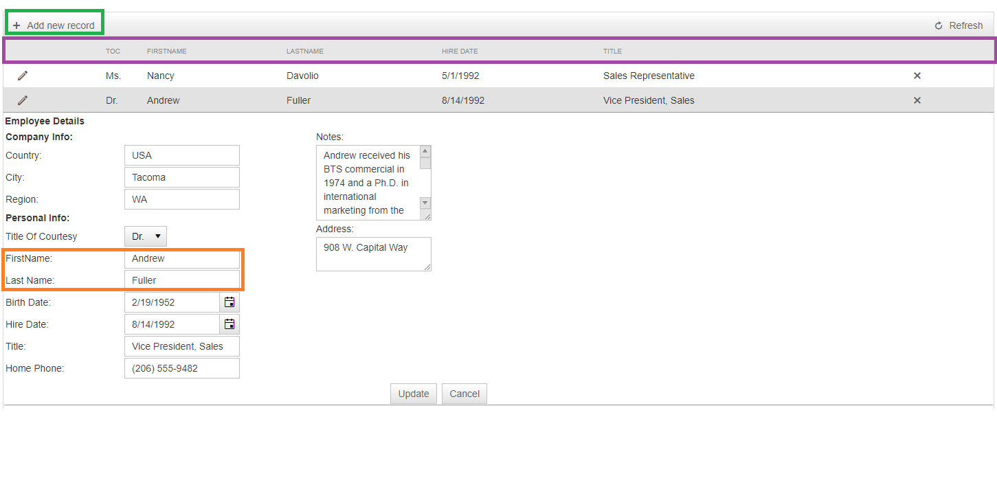 Inserting Values Using FormTemplate if No Records are Found from