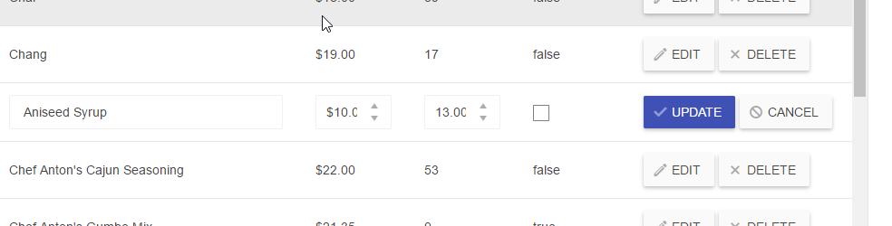 Inline Edit mode via JavaScript in UI for ASP NET MVC Grid
