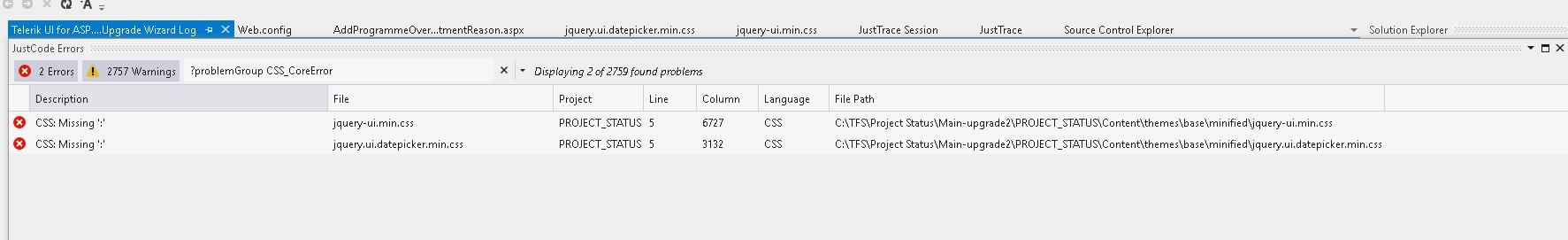 URGENT---ASP NET AJAX Upgrade fail from to Version 2013 2