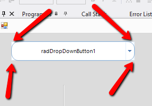 Remove square border around button with rounded edges in UI for
