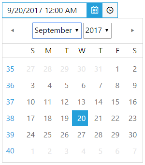 Calendar DropDowns