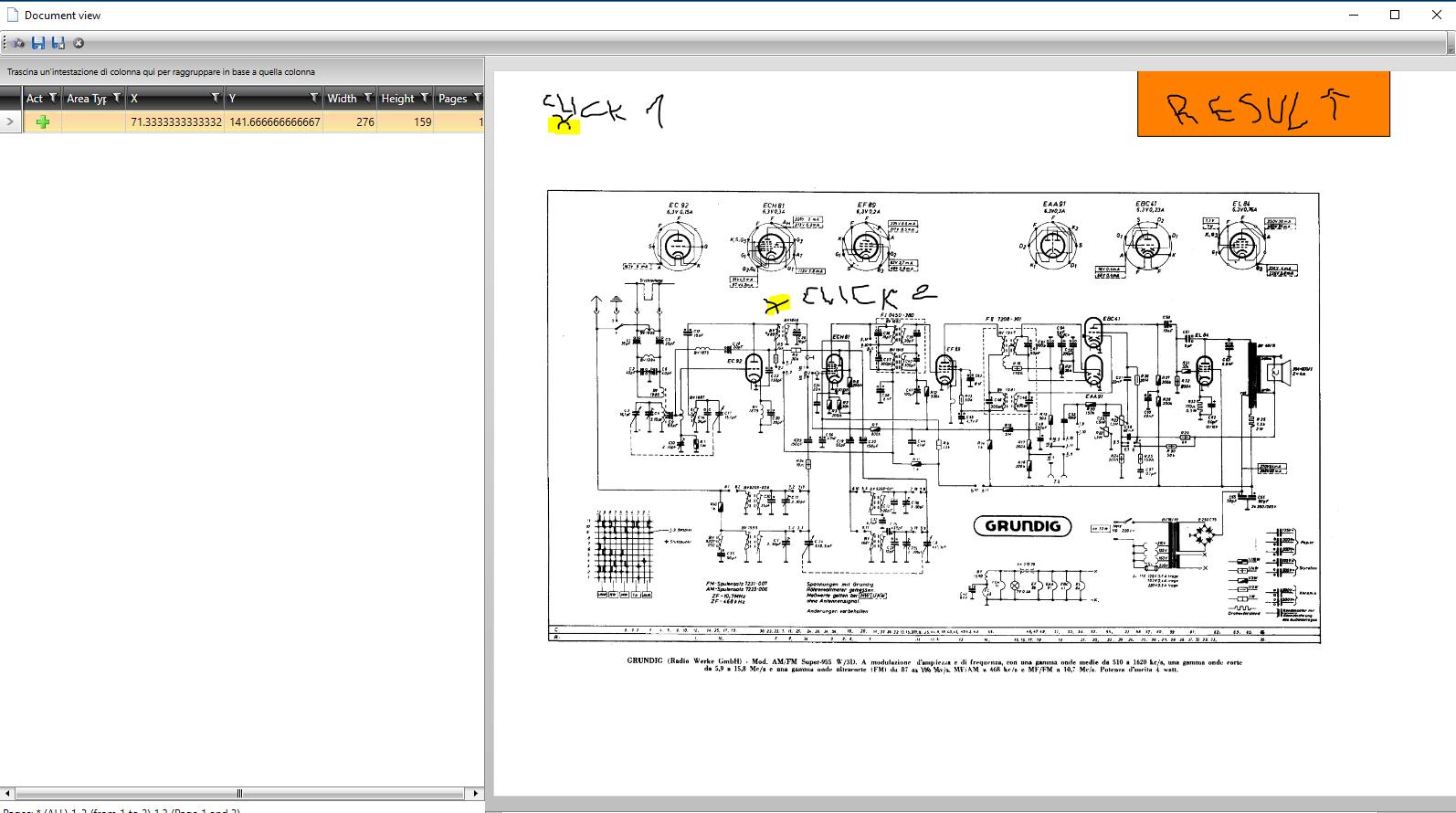 Area selecion coordinate in UI for WPF PDFViewer - Telerik