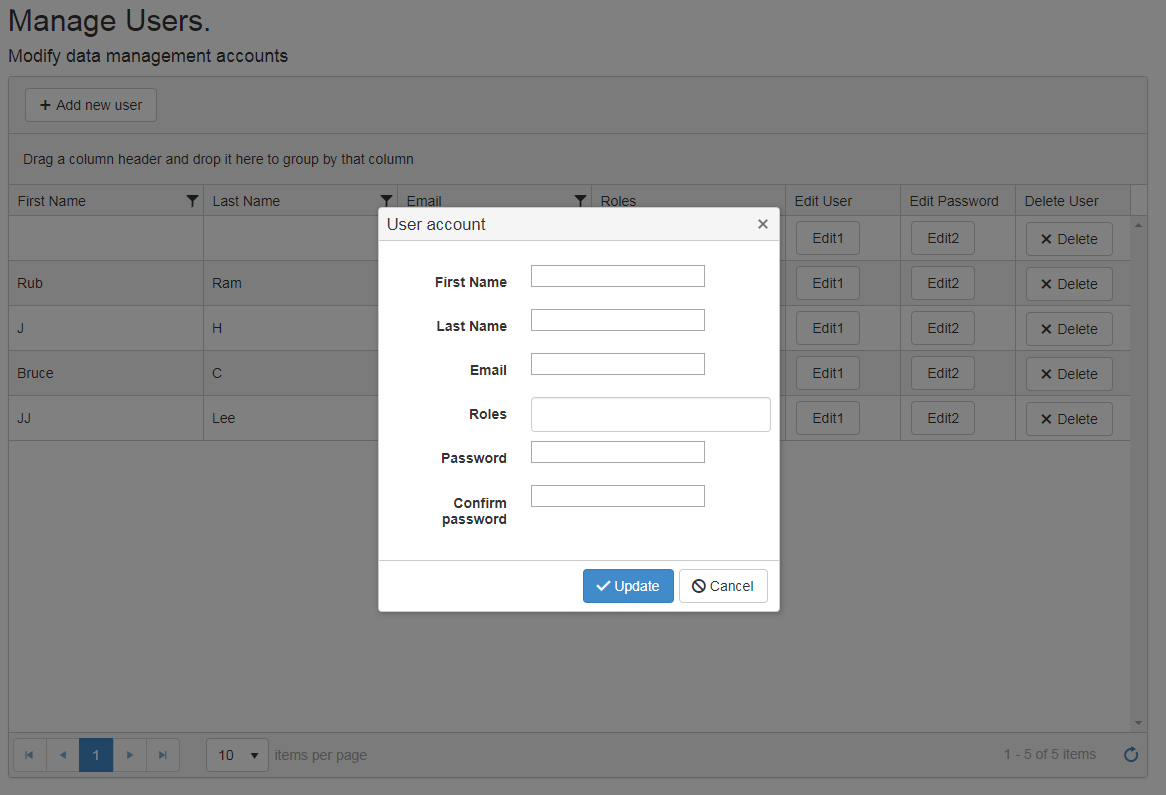 Multiple Editable Events for 1 Grid in UI for ASP NET MVC