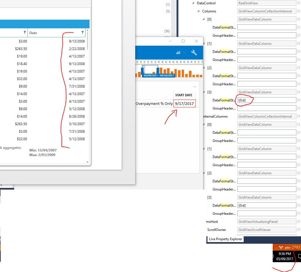 Data Annotations Date Format In UI For WPF GridView