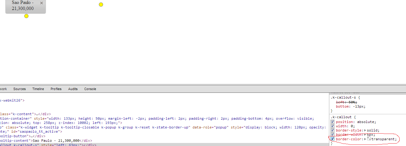 ToolTip without callout in Kendo UI for jQuery ToolTip